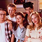 Danny Nucci, Josie Bissett, Keith Coogan, Tricia Leigh Fisher, John Cameron Mitchell, and Chris Young in Book of Love (1990)