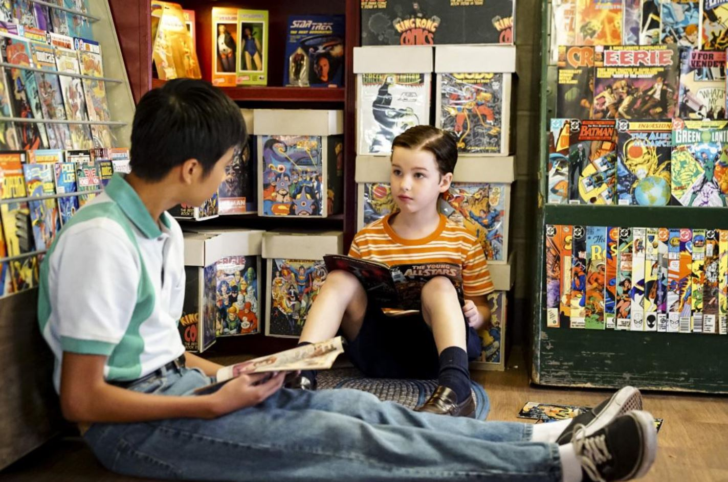 Ryan Phuong and Iain Armitage in Young Sheldon (2017)