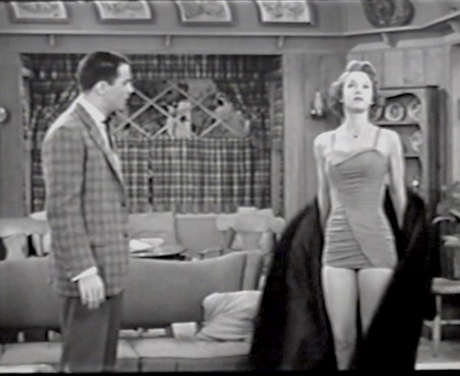Dean Miller and Frances Rafferty in December Bride (1954)