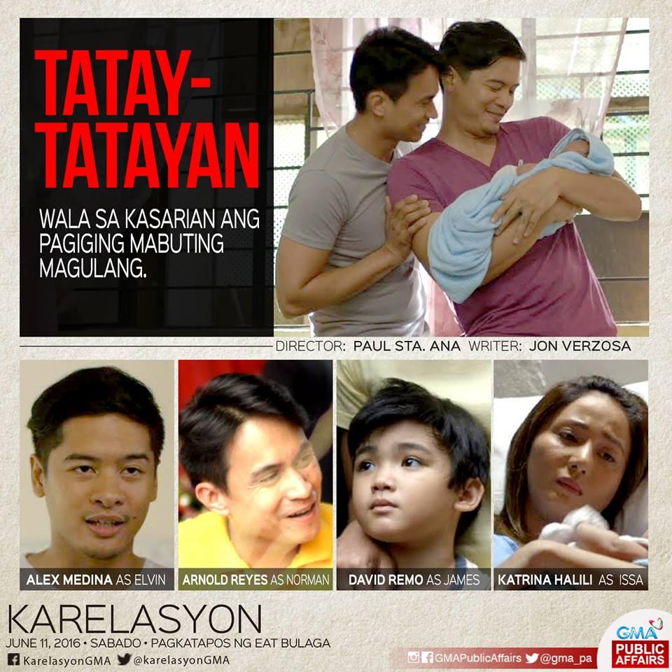 Katrina Halili, Arnold Reyes, Alex Vincent Medina, and David Remo in Karelasyon (2015)