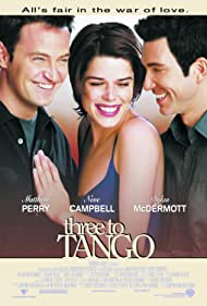 Neve Campbell, Dylan McDermott, and Matthew Perry in Three to Tango (1999)