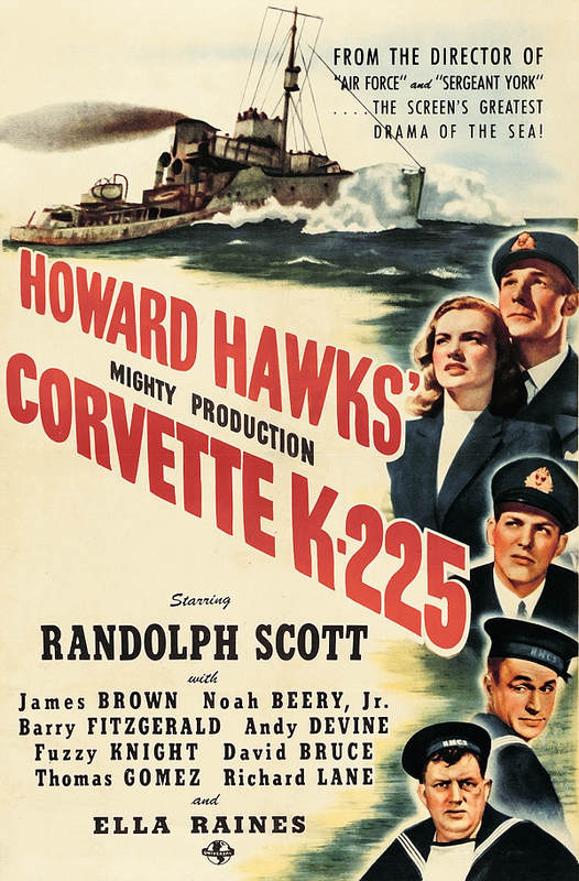Randolph Scott, Noah Beery Jr., James Brown, Andy Devine, and Ella Raines in Corvette K-225 (1943)