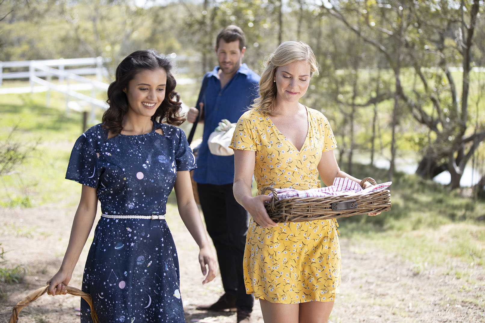 Cindy Busby, Naomi Sequeira, and Tim Ross in Romance on the Menu (2020)