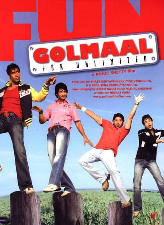 Download Golmaal Fun Unlimited (2006) Hindi Full Movie BluRay 480p [400MB] | 720p [1.2GB]