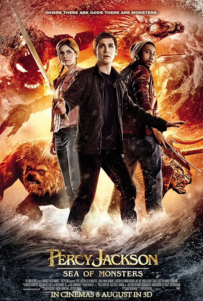Logan Lerman, Brandon T. Jackson, and Alexandra Daddario in Percy Jackson: Sea of Monsters (2013)