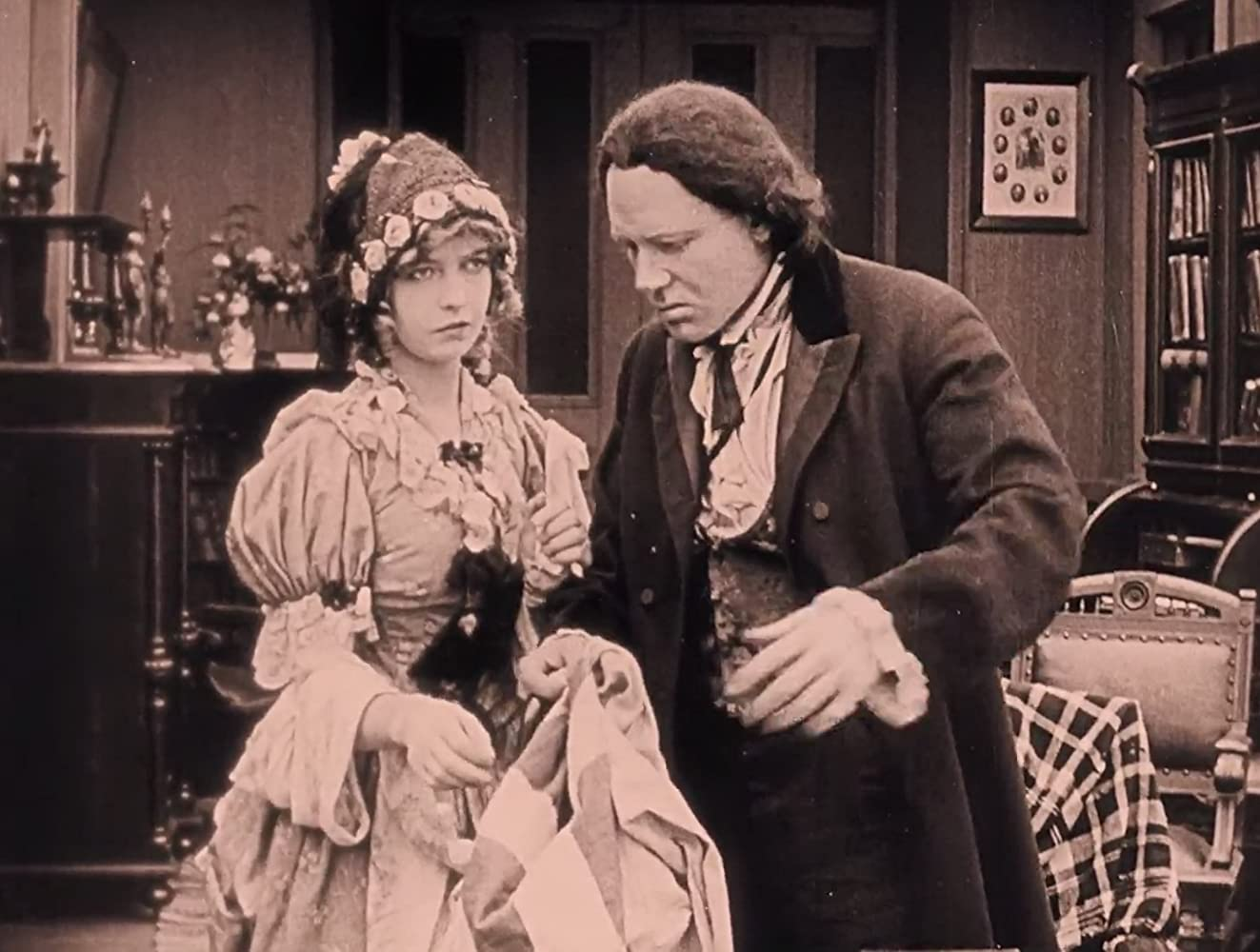 Lillian Gish and Ralph Lewis in The Birth of a Nation (1915)