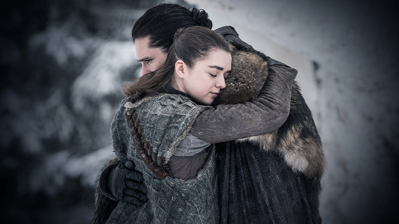 Kit Harington and Maisie Williams in Game of Thrones (2011)
