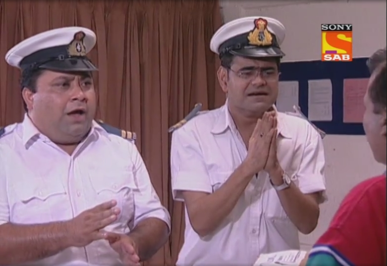 Sanjay Mishra and Manoj Pahwa in Office Office (2000)