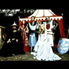 James Mason, Sam Neill, Anthony Andrews, Lysette Anthony, and Olivia Hussey in Ivanhoe (1982)