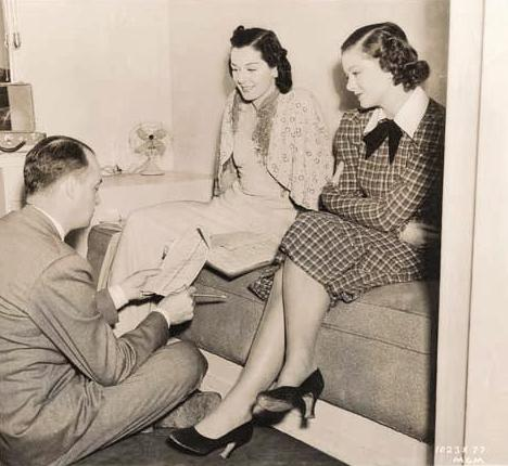 Myrna Loy, Rosalind Russell, and Richard Thorpe in Man-Proof (1938)