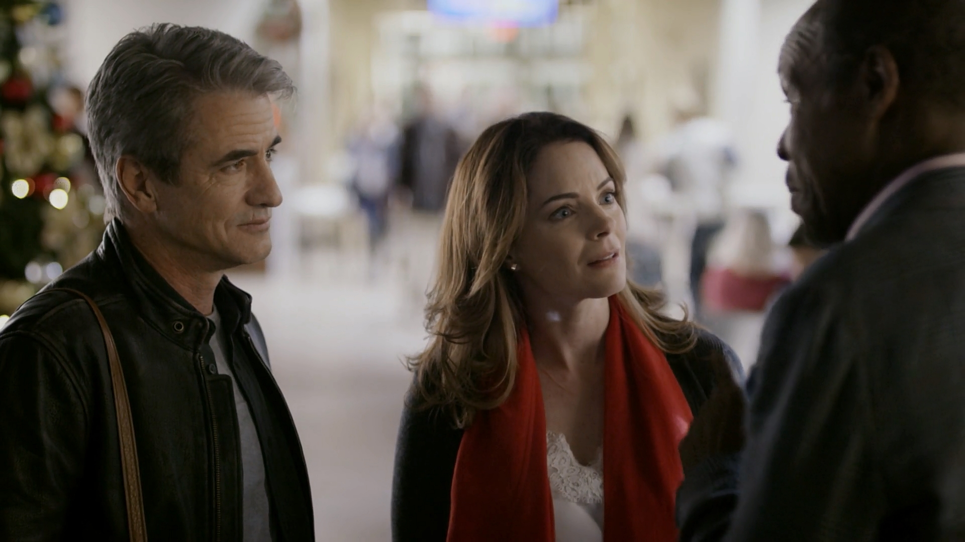 Danny Glover, Dermot Mulroney, and Kimberly Williams-Paisley in The Christmas Train (2017)