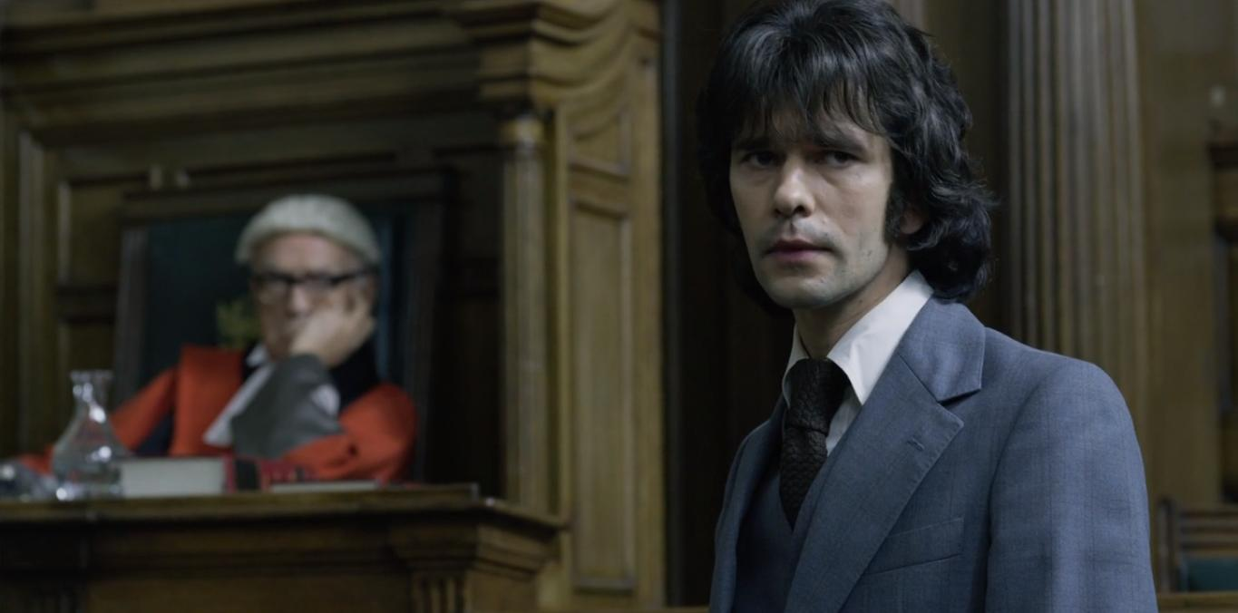 Paul Freeman and Ben Whishaw in A Very English Scandal (2018)