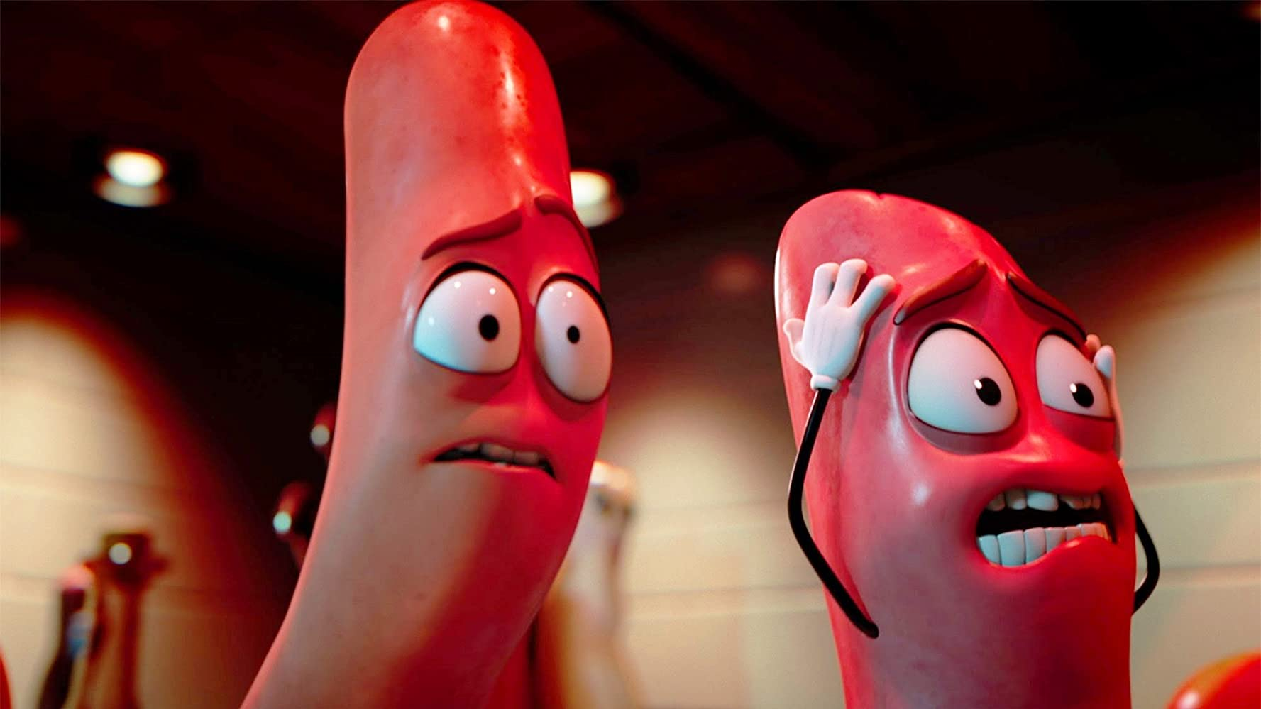 Michael Cera and Jonah Hill in Sausage Party (2016)