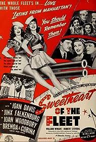 Elvia Allman, Joan Davis, Jinx Falkenburg, Robert Kellard, Blanche Stewart, Joan Woodbury, and William Wright in Sweetheart of the Fleet (1942)