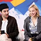 Sarah Gadon and Christopher Abbott at an event for The IMDb Studio at Acura Festival Village (2020)