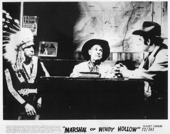 Sunset Carson, Ken Maynard, and Bill Cody in The Marshal of Windy Hollow (1972)