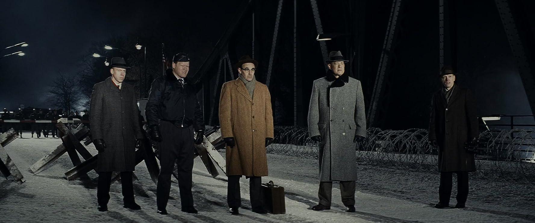 Tom Hanks, Jesse Plemons, Mark Rylance, and Scott Shepherd in Bridge of Spies (2015)