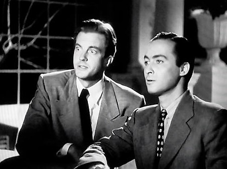 Tony Barrett and William Lundigan in Mystery in Mexico (1948)