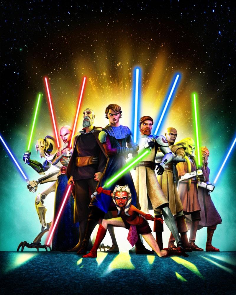 Matthew Wood, Corey Burton, Terrence 'T.C.' Carson, Ashley Eckstein, Tom Kane, James Arnold Taylor, and Matt Lanter in Star Wars: The Clone Wars (2008)