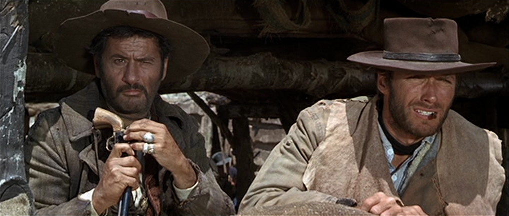 Clint Eastwood and Eli Wallach in Il buono, il brutto, il cattivo (1966)