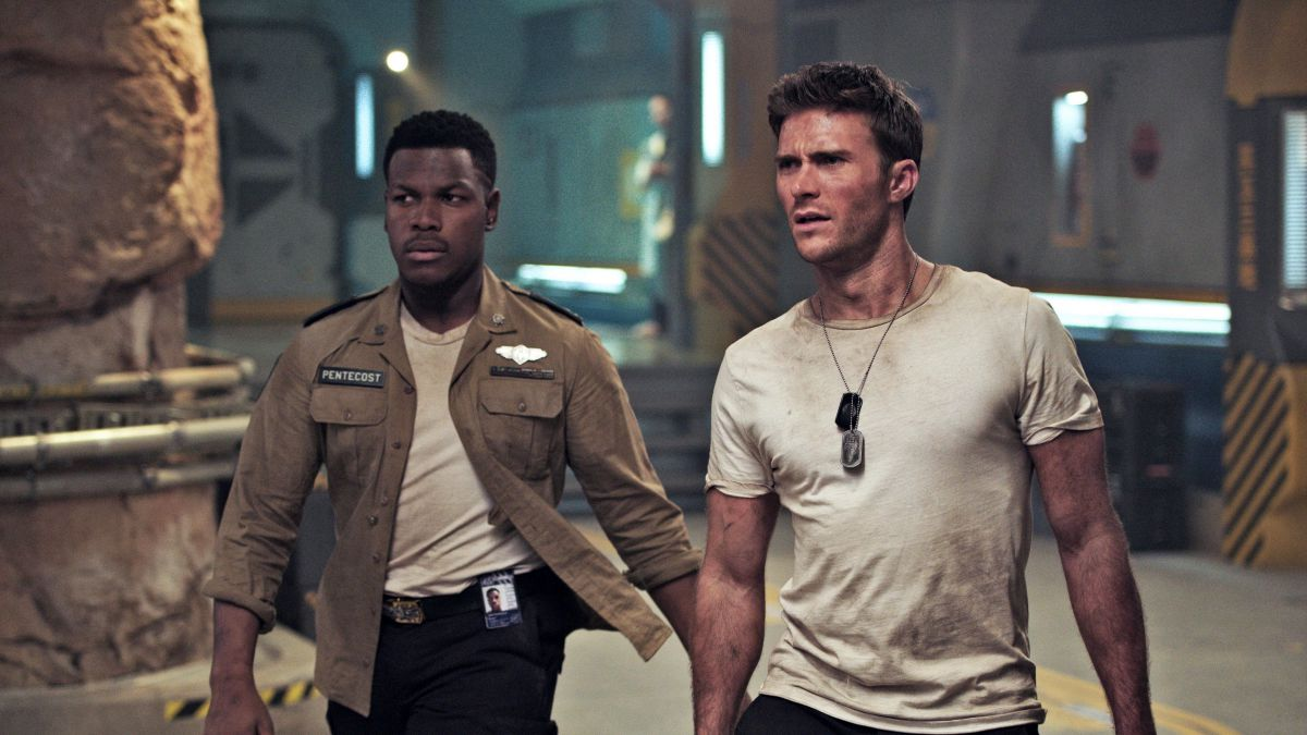Scott Eastwood and John Boyega in Pacific Rim: Uprising (2018)