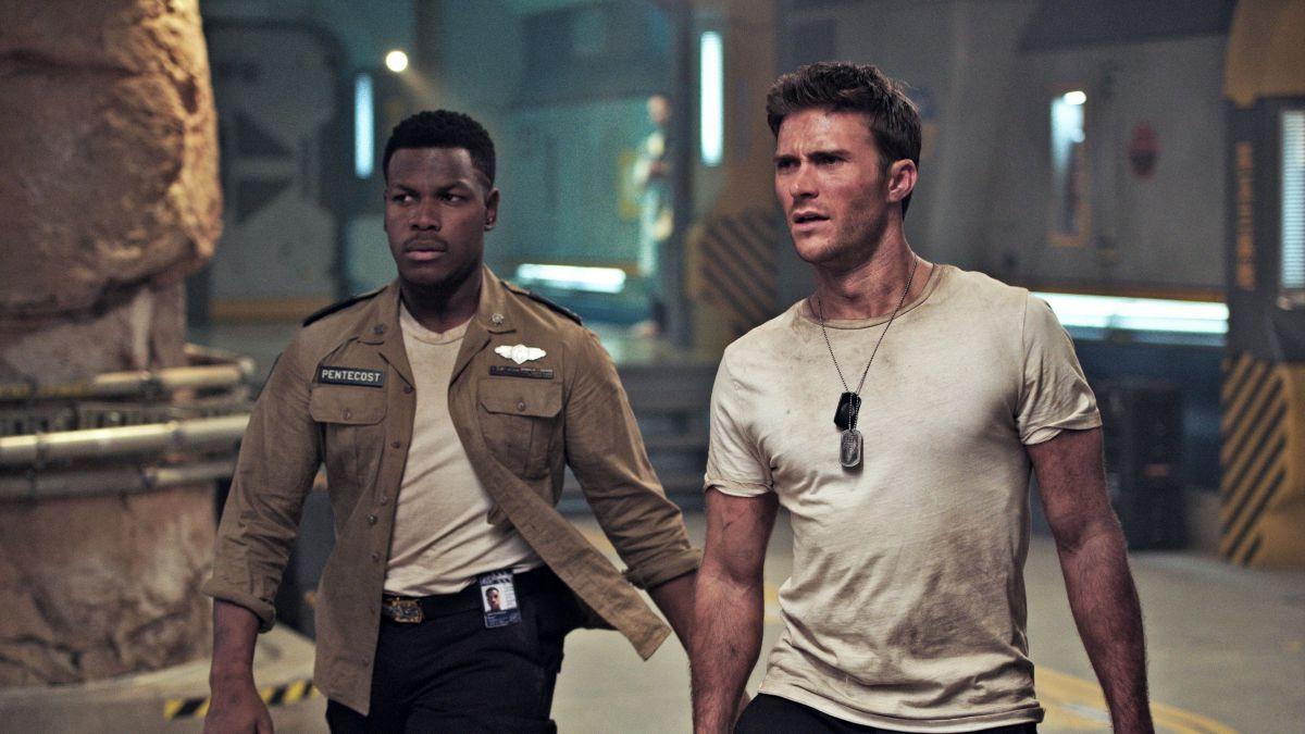 Scott Eastwood and John Boyega in Pacific Rim: Uprising (2018)