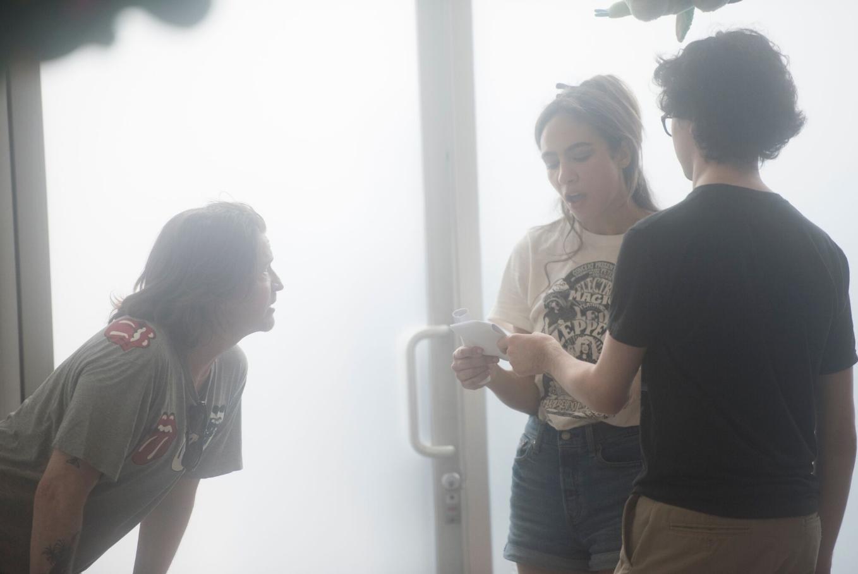 Scott Coffey, Jared Gilman, and Aurora Perrineau in Rhino (2018)