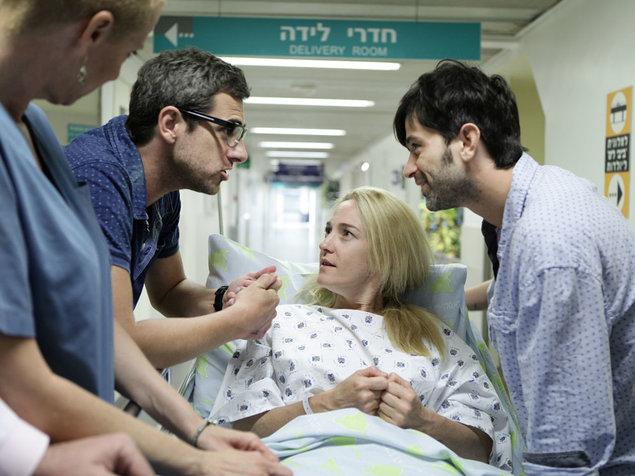 Yehuda Levi, Yiftach Klein, and Maya Dagan in Ima VeAbaz (2012)