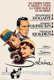 Humphrey Bogart, Audrey Hepburn, and William Holden in Sabrina (1954)