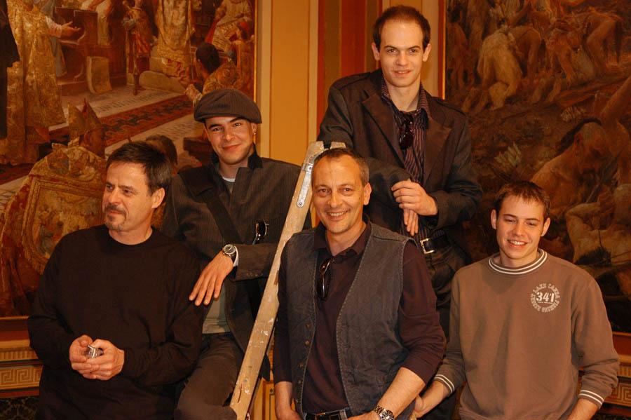Damir Markovina, Zarko Radic, Cedo Martinic, Mislav Cavajda, and Sven Madzarevic in Villa Maria (2004)