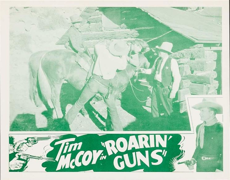 Tim McCoy, Ed Cassidy, and Rex Lease in Roarin' Guns (1936)