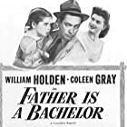 William Holden, Coleen Gray, and Mary Jane Saunders in Father Is a Bachelor (1950)