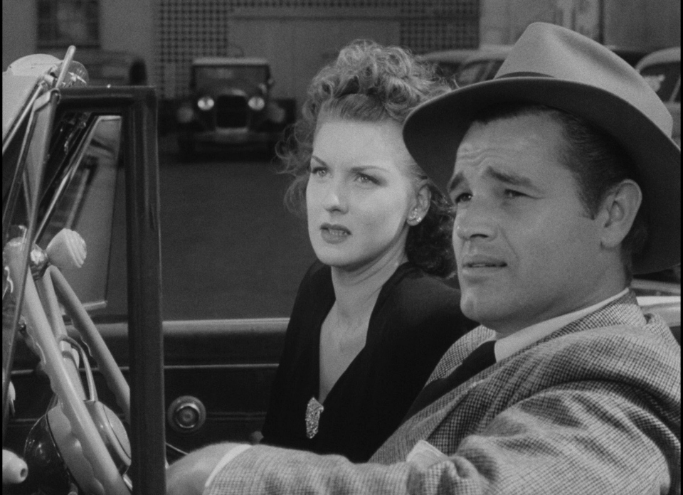Tom Neal and Ann Savage in Detour (1945)