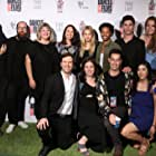 Michelle M. Miracle, Antjuan Tobias, Libby Baker, Max Gold, Oliver Singer, Max Silver, Ben Palacios, Andrea Snædal, Decker Sadowski, and Erica Lupinacci at an event for Silicon Beach (2018)
