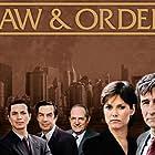 Carey Lowell, Benjamin Bratt, Jerry Orbach, Sam Waterston, Steven Hill, and S. Epatha Merkerson in Law & Order (1990)