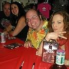The Trek event signing  From left Tom Devlin, Lola Wallace, John KarYusuf, Erin Fleming