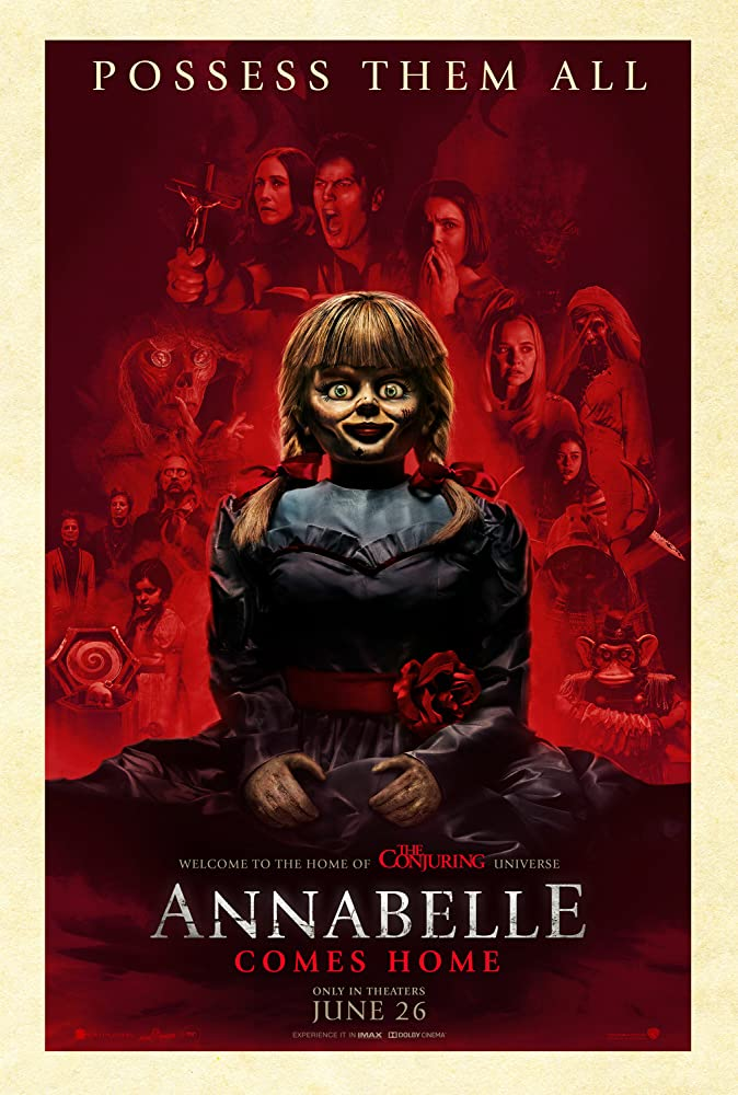 Vera Farmiga, Patrick Wilson, Huiquan Cai, Mckenna Grace, Samara Lee, and Madison Iseman in Annabelle Comes Home (2019)