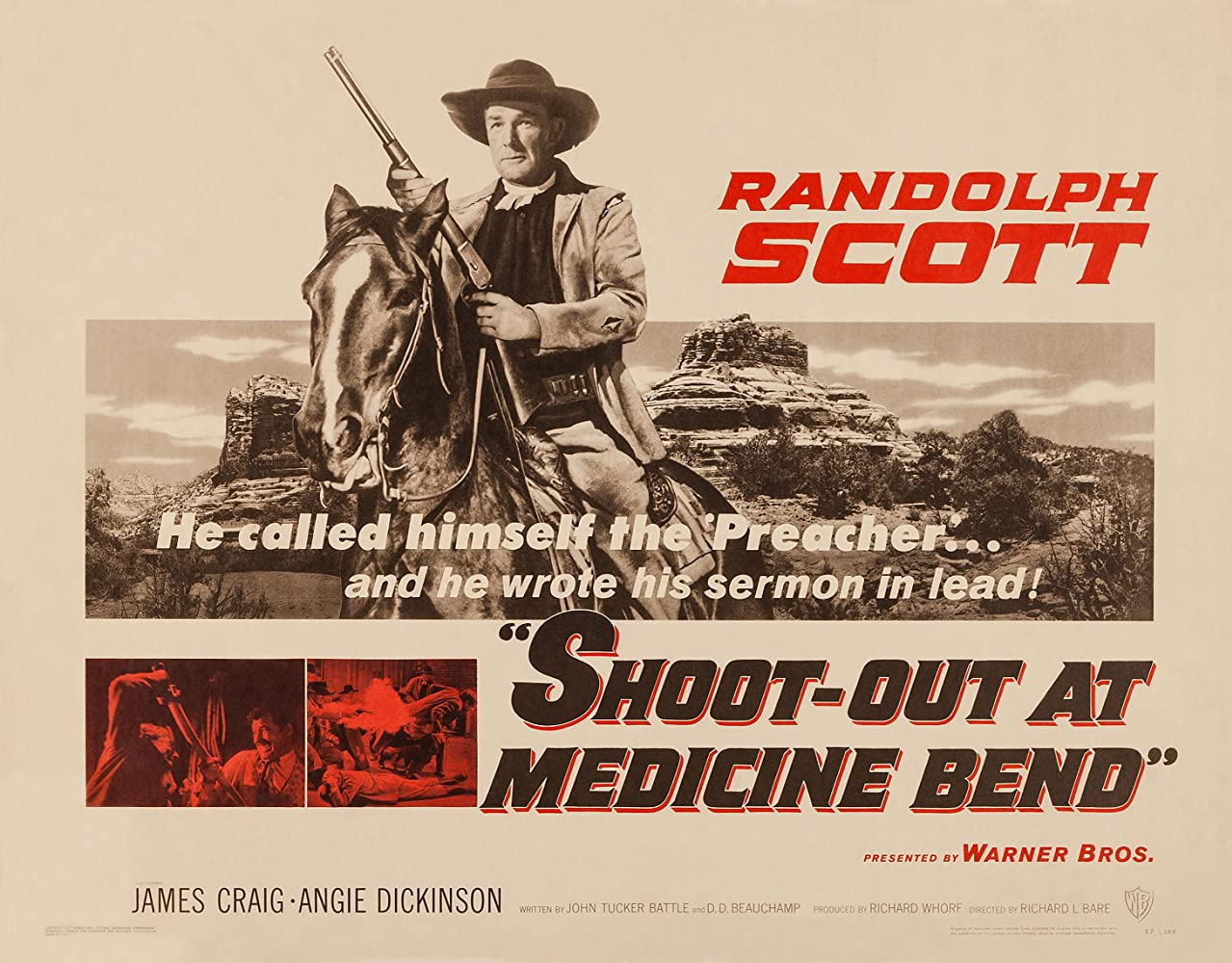 Randolph Scott in Shoot-Out at Medicine Bend (1957)