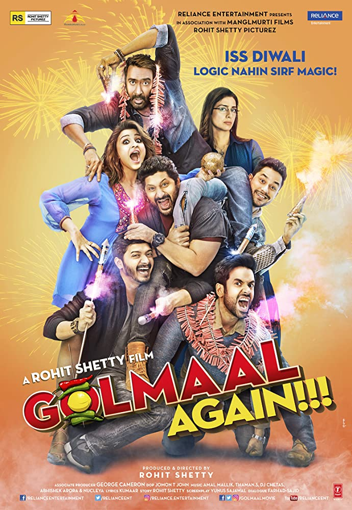 Golmaal Again 2017 Hindi Movie 450MB HDRip ESubs Download