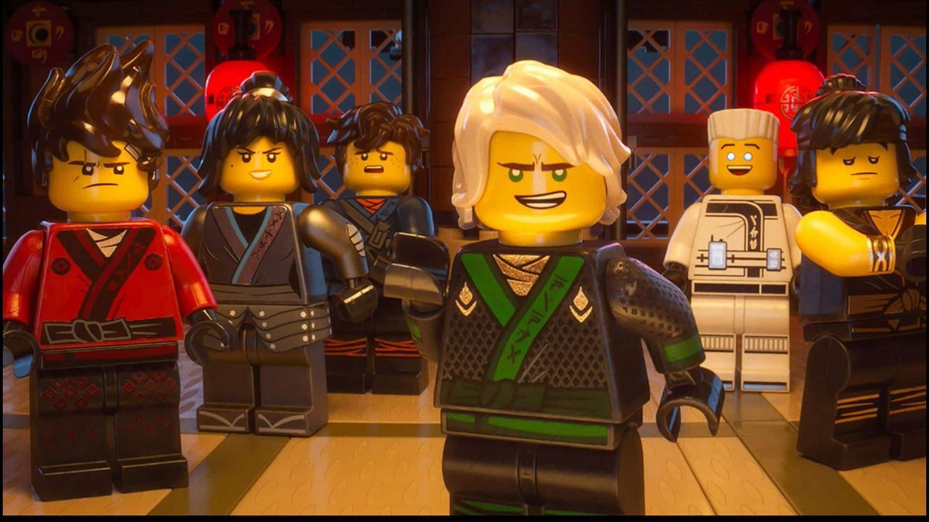 Fred Armisen, Michael Peña, Dave Franco, Zach Woods, Abbi Jacobson, and Kumail Nanjiani in The Lego Ninjago Movie (2017)