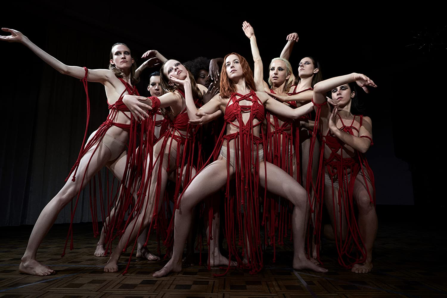 Dakota Johnson, Gala Moody, Sara Sguotti, Anne-Lise Brevers, Halla Thordardottir, Mia Goth, and Olivia Ancona in Suspiria (2018)