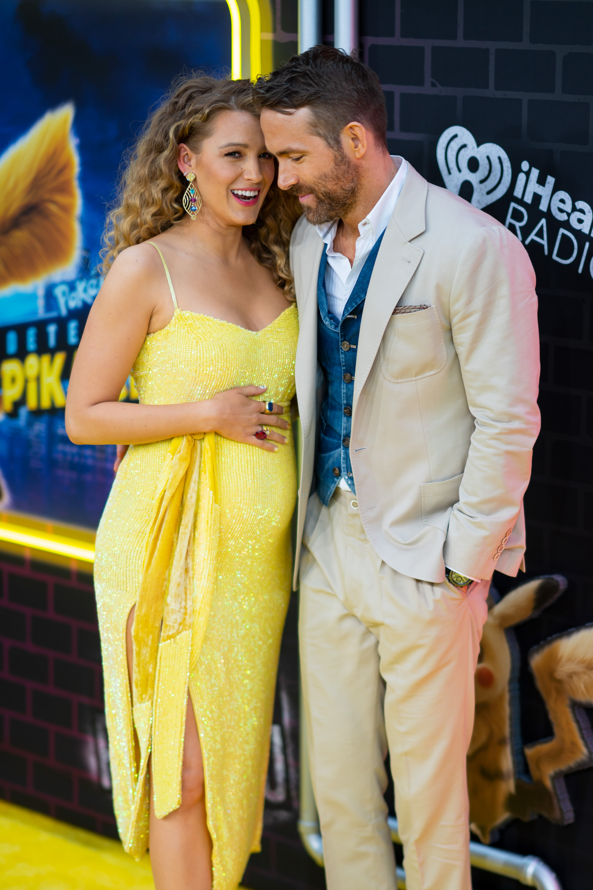 Ryan Reynolds and Blake Lively at an event for Pokémon: Detective Pikachu (2019)