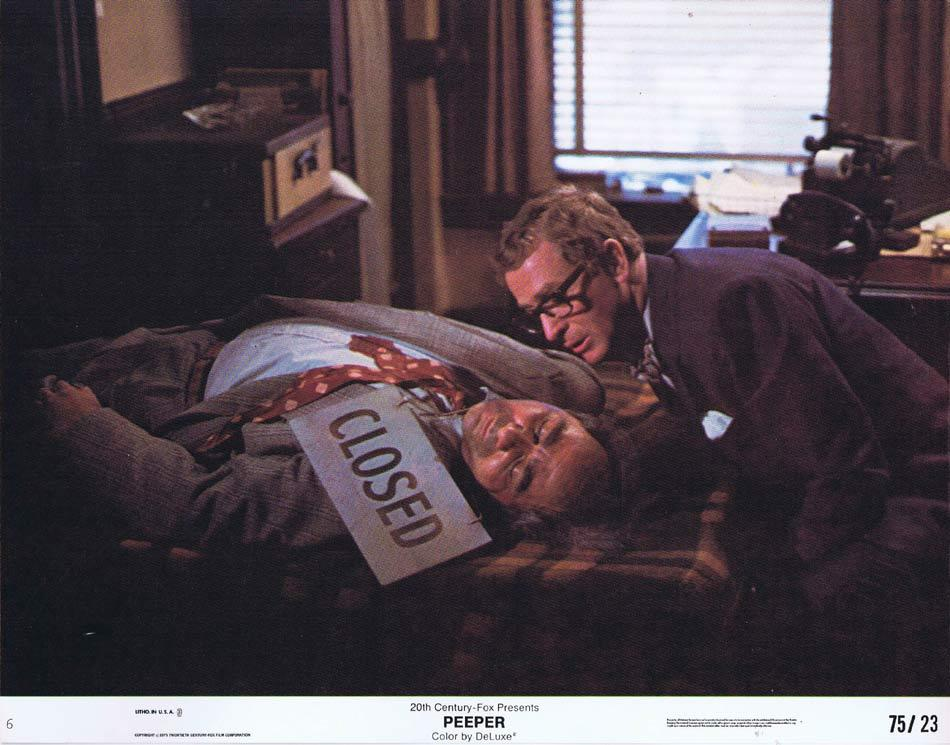 Michael Caine and Michael Constantine in Peeper (1975)