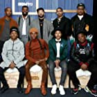 Caleeb Pinkett, Sherman Payne, Angel Manuel Soto, Donielle T. Hansley Jr., Kezii Curtis, Clarence Hammond, Jahi Di'Allo Winston, and Lakeyria Doughty at an event for The IMDb Studio at Acura Festival Village (2020)