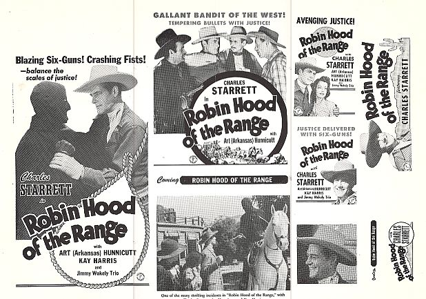 Kay Harris and Charles Starrett in Robin Hood of the Range (1943)