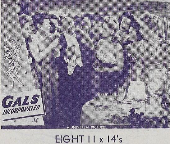 Nancy Brinckman, Maureen Cannon, Lillian Cornell, Marion Daniels, Leon Errol, Harriet Nelson, Betty Kean, Grace McDonald, and Minna Phillips in Gals, Incorporated (1943)
