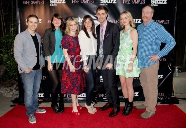 Wendy Shapero, Matt Walsh, Jay Gammill, and Jess Weixler in Free Samples (2012)