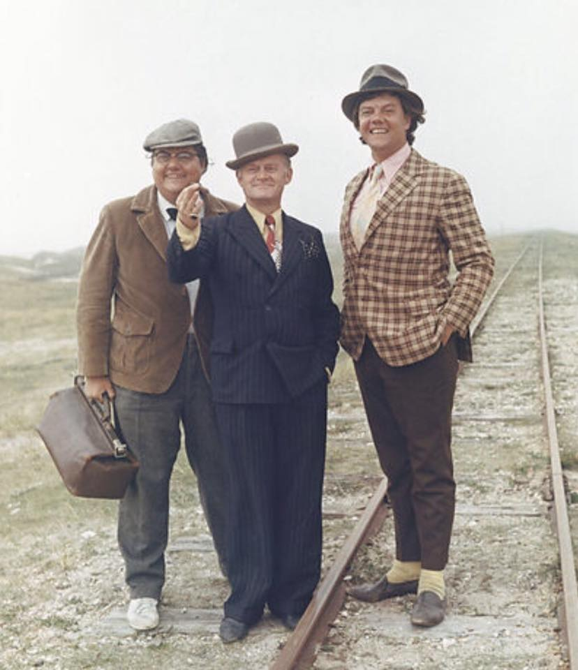 Poul Bundgaard, Morten Grunwald, and Ove Sprogøe in Olsen-banden i Jylland (1971)