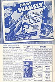 Virginia Belmont, I. Stanford Jolley, Dub Taylor, and Jimmy Wakely in Oklahoma Blues (1948)