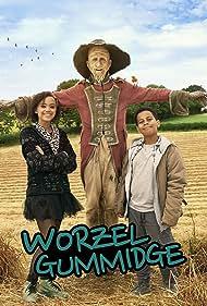 Mackenzie Crook, Thierry Wickens, and India Brown in Worzel Gummidge (2019)